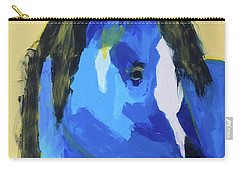 Carry-all Pouch featuring the painting Blue Horse 2 by Donald J Ryker III