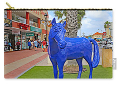 Blue Horse In Orangjetad, Aruba Carry-all Pouch by Allan Levin