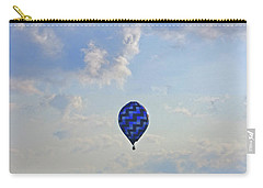 Carry-all Pouch featuring the photograph Blue Hot Air Balloon by Angela Murdock