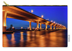 Blue Hour At Roosevelt Bridge In Stuart Florida  Carry-all Pouch by Justin Kelefas