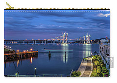 Blue Hour Over The Hudson Carry-all Pouch by Jeffrey Friedkin