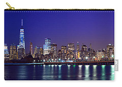 Blue Hour Panorama New York World Trade Center With Freedom Tower From Liberty State Park Carry-all Pouch