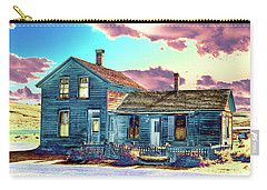 Carry-all Pouch featuring the photograph Blue House by Jim and Emily Bush