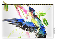 Blue Hummingbird Carry-all Pouch