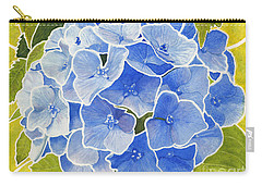 Blue Hydrangea Stained Glass Look Carry-all Pouch