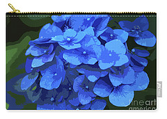 Blue Hydrangea Stylized Carry-all Pouch