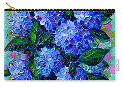 Blue Hydrangeas - Abstract Floral Composition Carry-all Pouch