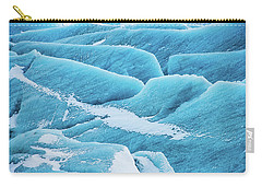 Carry-all Pouch featuring the photograph Blue Ice Svinafellsjokull Glacier Iceland by Matthias Hauser