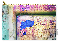 Carry-all Pouch featuring the photograph Blue In Iron Door by Silvia Ganora