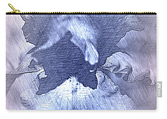 Blue Iris Abstract Carry-all Pouch