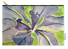 Blue Iris Carry-all Pouch by Holly York