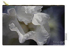 Carry-all Pouch featuring the photograph Blue Iris by Mary-Lee Sanders