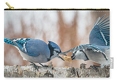 Blue Jay Battle Carry-all Pouch by Patti Deters