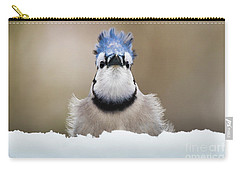 Blue Jay In Snow Carry-all Pouch
