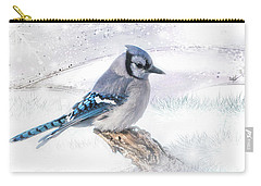 Blue Jay Snow Carry-all Pouch