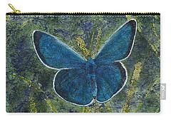 Blue Karner Butterfly Watercolor Batik Carry-all Pouch