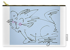 Blue Kitty Carry-all Pouch