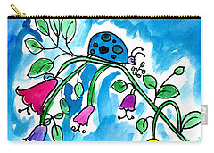 Blue Ladybug Carry-all Pouch