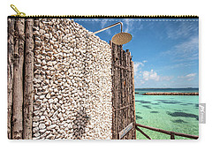 Carry-all Pouch featuring the photograph Blue Lagoon View by Jenny Rainbow