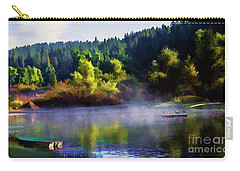 Blue Lake Spring Misty Geese  Carry-all Pouch
