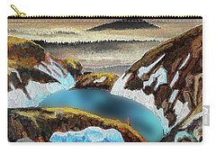 Blue Lake Carry-all Pouch by Vladimir Kholostykh