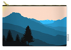 Blue Landscape Carry-all Pouch by Thomas M Pikolin