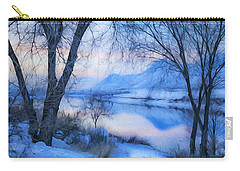Blue Landscape Carry-all Pouch by Theresa Tahara