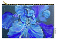 Blue/lavender Iris Carry-all Pouch