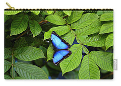 Blue Leaves - Morpho Butterfly Carry-all Pouch