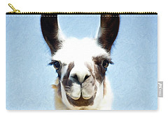 Blue Llama Carry-all Pouch