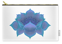 Carry-all Pouch featuring the digital art Blue Lotus by Elizabeth Lock