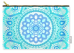 Carry-all Pouch featuring the painting Blue Lotus Mandala by Tammy Wetzel