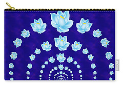 Blue Lotus Tunnel Carry-all Pouch