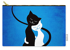 Blue Love Cats Carry-all Pouch
