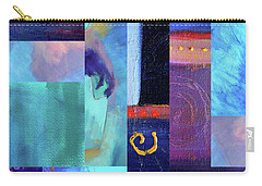 Carry-all Pouch featuring the digital art Blue Love by Nancy Merkle