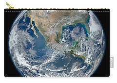 Carry-all Pouch featuring the photograph Blue Marble 2012 Planet Earth by Nikki Marie Smith