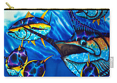 Blue Marlin And Yellowfin Tuna Carry-all Pouch