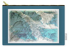 Carry-all Pouch featuring the photograph Blue Maze by Athala Carole Bruckner