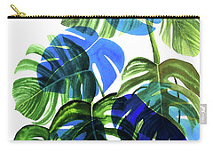 Blue Monstera Carry-all Pouch by Ana Martinez