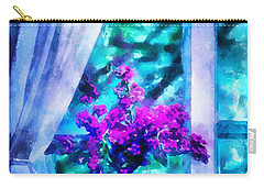 Blue Mood Carry-all Pouch by Shirley Stalter