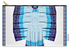 Blue Moon Butterfly Womens Fashion Couture From Jaipur India Cotton Printed Fabric With Embroidary W Carry-all Pouch