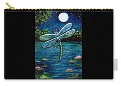 Blue Moon Dragonfly Carry-all Pouch by Sandra Estes