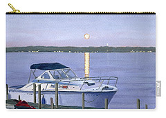 Carry-all Pouch featuring the painting Blue Moon by Lynne Reichhart