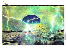 Carry-all Pouch featuring the photograph Blue Moon by Richard Ricci