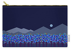 Blue Moon Carry-all Pouch by Val Arie