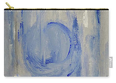 Carry-all Pouch featuring the painting Blue Moon by Victoria Lakes