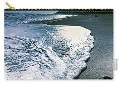 Carry-all Pouch featuring the photograph Blue Moonlight Beach Landscape by Jorgo Photography - Wall Art Gallery