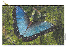 Blue Morpho Butterfly Batik Carry-all Pouch