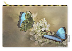 Blue Morpho In Spring Carry-all Pouch by Janette Boyd