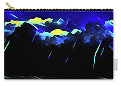 Carry-all Pouch featuring the painting Blue Mountains by Joan Reese